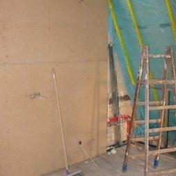 bau der kueche im obergeschoss 291 - Rohbau in der neuen Küche - Trempel und Verplankung