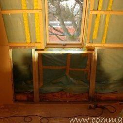 bau der kueche im obergeschoss 61 - Rohbau in der neuen Küche - Trempel und Verplankung