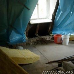 bau der kueche im obergeschoss 15 - Der Einbau der Dachfenster-Einbau der Dachfenster