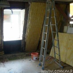 bau der kueche im obergeschoss 19 - Der Einbau der Dachfenster-Einbau der Dachfenster