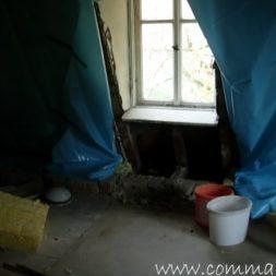 bau der kueche im obergeschoss 20 - Der Einbau der Dachfenster-Einbau der Dachfenster