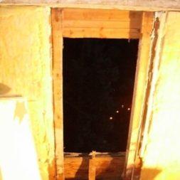 bau der kueche im obergeschoss 40 - Der Einbau der Dachfenster-Einbau der Dachfenster