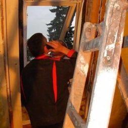 bau der kueche im obergeschoss 49 - Der Einbau der Dachfenster-Einbau der Dachfenster