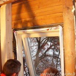 bau der kueche im obergeschoss 50 - Der Einbau der Dachfenster-Einbau der Dachfenster