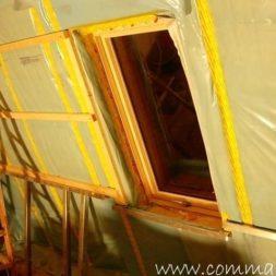 bau der kueche im obergeschoss 57 - Der Einbau der Dachfenster-Einbau der Dachfenster