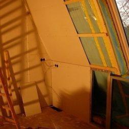 bau der kueche im obergeschoss 63 - Der Einbau der Dachfenster-Einbau der Dachfenster