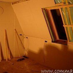 bau der kueche im obergeschoss 671 - Der Einbau der Dachfenster-Einbau der Dachfenster