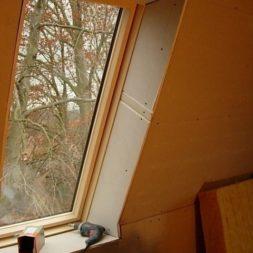 bau der kueche im obergeschoss 69 - Der Einbau der Dachfenster-Einbau der Dachfenster