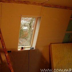 bau der kueche im obergeschoss 71 - Der Einbau der Dachfenster-Einbau der Dachfenster