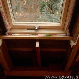 bau der kueche im obergeschoss 721 - Der Einbau der Dachfenster-Einbau der Dachfenster