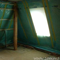 bau der kueche im obergeschoss 75 - Der Einbau der Dachfenster-Einbau der Dachfenster