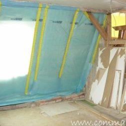 bau der kueche im obergeschoss 76 - Der Einbau der Dachfenster-Einbau der Dachfenster