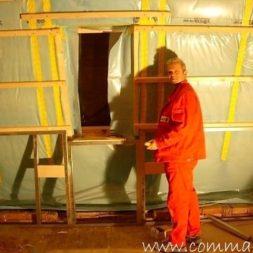 bau der kueche im obergeschoss 77 - Der Einbau der Dachfenster-Einbau der Dachfenster