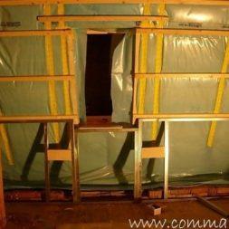 bau der kueche im obergeschoss 79 - Der Einbau der Dachfenster-Einbau der Dachfenster