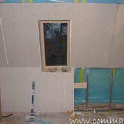 bau der kueche im obergeschoss 82 - Der Einbau der Dachfenster-Einbau der Dachfenster
