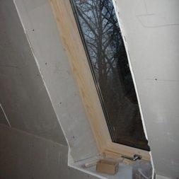 bau der kueche im obergeschoss 83 - Der Einbau der Dachfenster-Einbau der Dachfenster
