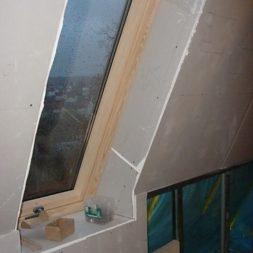 bau der kueche im obergeschoss 84 - Der Einbau der Dachfenster-Einbau der Dachfenster