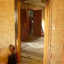 bau des wohnzimmer im obergeschoss 27 - Alte Holztüren entlacken/restaurieren