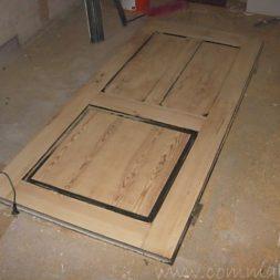 bau des wohnzimmer im obergeschoss 29 - Alte Holztüren entlacken/restaurieren