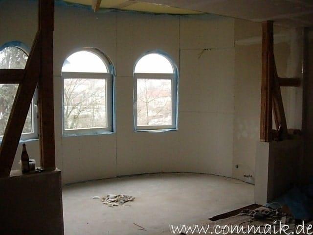 Super Gipskarton im Wohnzimmer oder wie man einen Rundbogen verplankt GO25