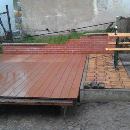 wpc terrassenbau 101 - Aufbringen der WPC Terrassendielen