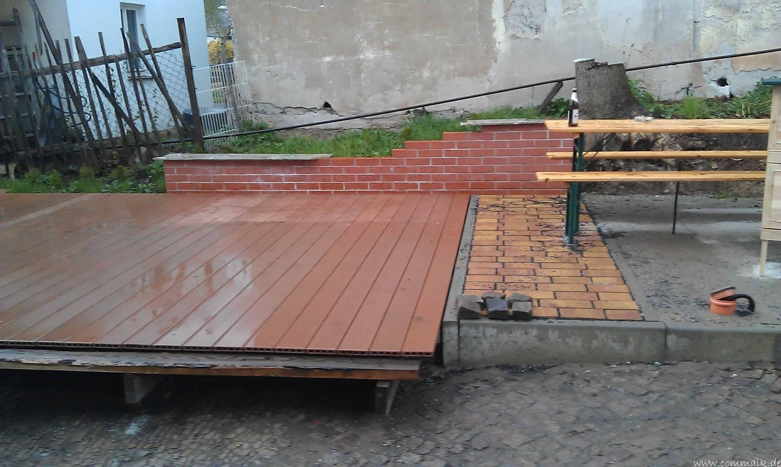 Terrasse Aus Holz Oder Wpc Wpc terrasse mit alu winkel