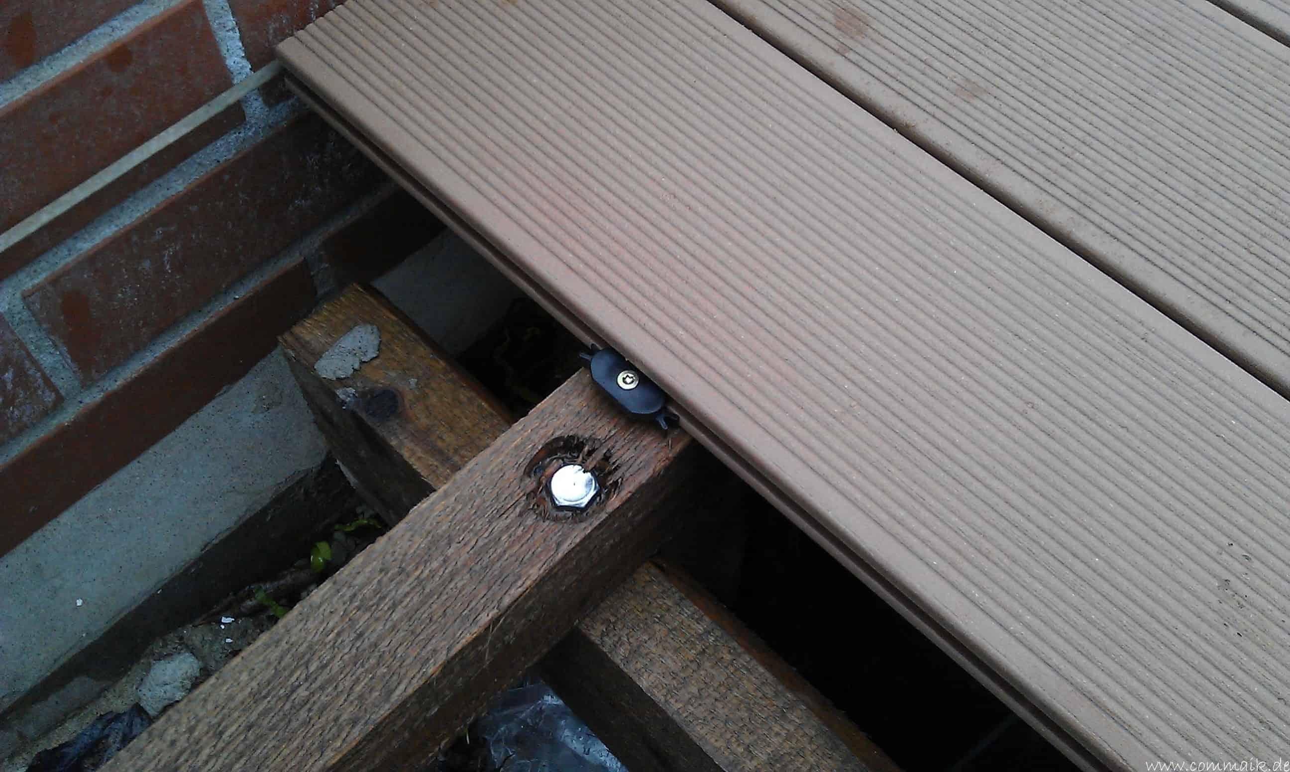 Eine Terrasse mit WPC Terrassen len bauen