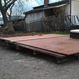 wpc terrassenbau 97 - Aufbringen der WPC Terrassendielen
