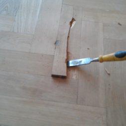 echtholzparkett reparieren wohnung24 - Eichen Echtholz Parkett aufbereiten und kaputte Stäbe auswechseln