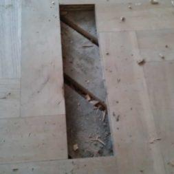 echtholzparkett reparieren wohnung29 - Eichen Echtholz Parkett aufbereiten und kaputte Stäbe auswechseln