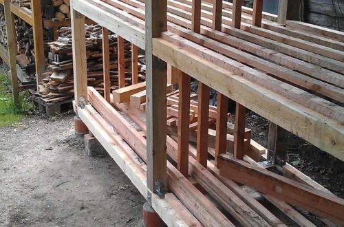 IMAG0628 - Das zweite Brennholzregal entsteht