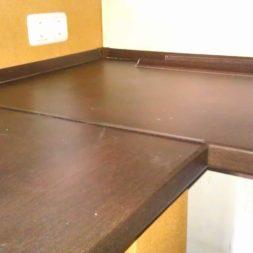 arbeitsplatte bartresen im keller4 - Partyraum im Keller - Die Bar bekommt eine Arbeitsplatte