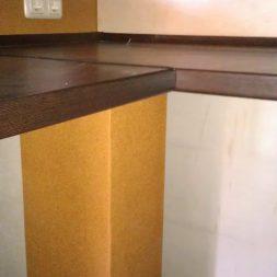 arbeitsplatte bartresen im keller6 - Partyraum im Keller - Die Bar bekommt eine Arbeitsplatte