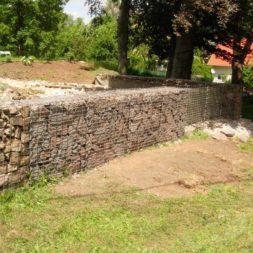 bau der gabionen terrasse 9 - Bildergalerie – Der Garten 1
