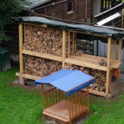 bau eines brennholzlagers 1 - Bildergalerie – Der Garten 1