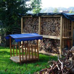 bau eines brennholzlagers 3 - Bildergalerie – Der Garten 1