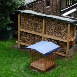 bau eines brennholzlagers 4 - Bildergalerie – Der Garten 1
