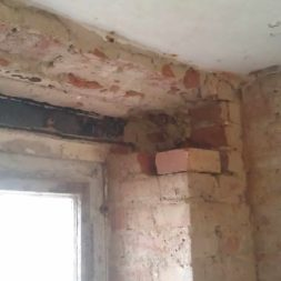 buero im keller bauen2 - Vom Abstellkeller zum Maklerbüro - Fenstersturz auswechseln