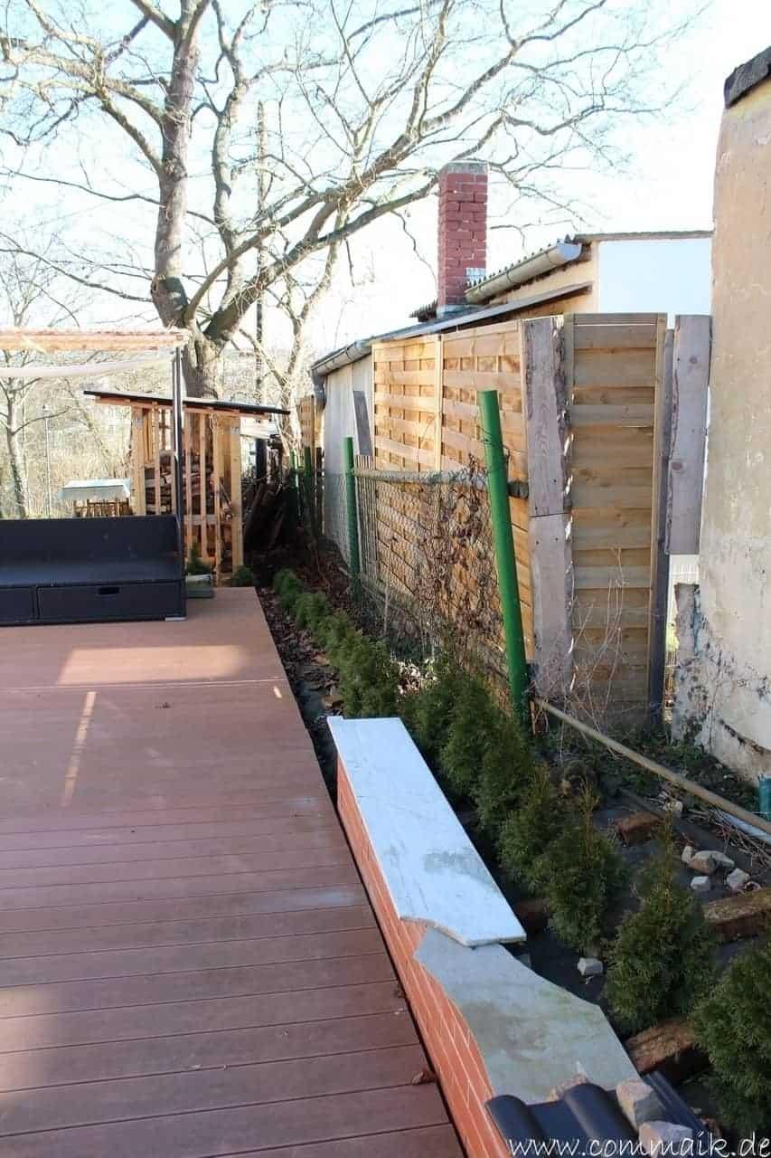 Frühlingsimpressionen von unserer WPC Terrasse