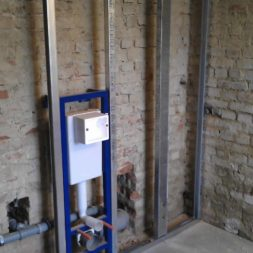 buero im keller bauen19 - Trockenbau und Sanitärinstallation im Keller - Die Kundentoilette entsteht