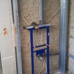 buero im keller bauen21 - Trockenbau und Sanitärinstallation im Keller - Die Kundentoilette entsteht