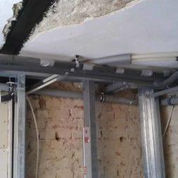 buero im keller bauen22 - Trockenbau und Sanitärinstallation im Keller - Die Kundentoilette entsteht