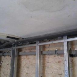 buero im keller bauen23 - Trockenbau und Sanitärinstallation im Keller - Die Kundentoilette entsteht