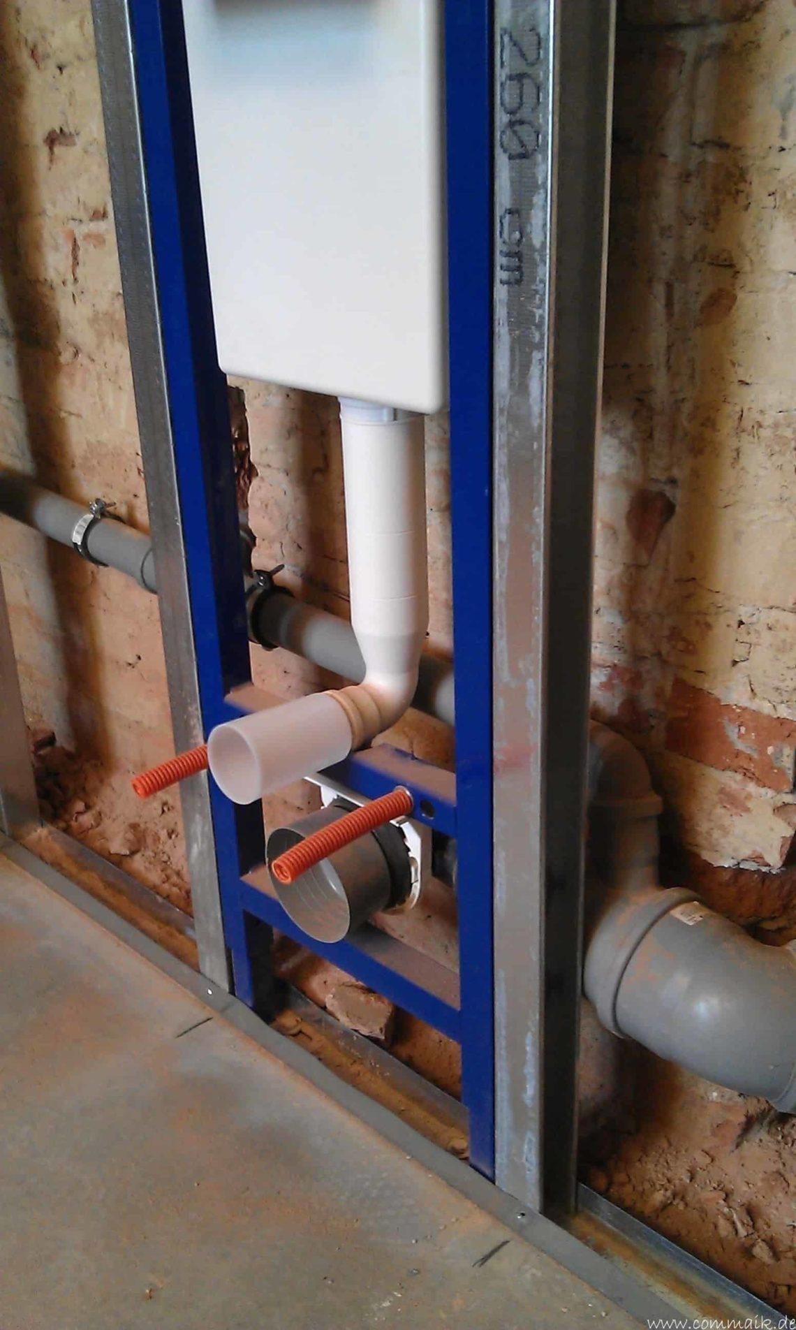buero im keller bauen25 - Trockenbau und Sanitärinstallation im Keller - Die Kundentoilette entsteht