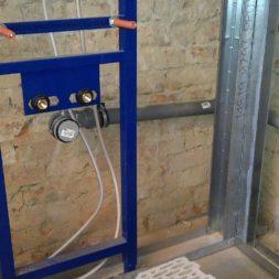 buero im keller bauen27 - Trockenbau und Sanitärinstallation im Keller - Die Kundentoilette entsteht
