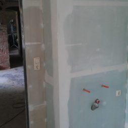 buero im keller bauen38 - Trockenbau und Sanitärinstallation im Keller - Die Kundentoilette entsteht