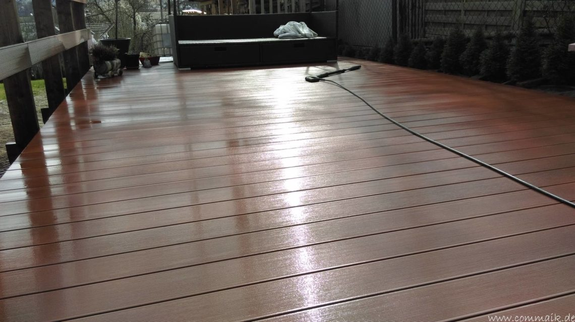 terrassenreinigung fr hjahr 2015 mit dem t racer commaik. Black Bedroom Furniture Sets. Home Design Ideas