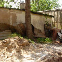 bau der gabionen terrasse10 - Der Bau unserer Gabionen Terrasse zum Abfang des Hangs