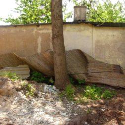 bau der gabionen terrasse11 - Der Bau unserer Gabionen Terrasse zum Abfang des Hangs