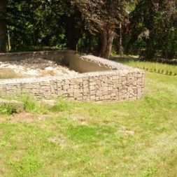 bau der gabionen terrasse14 - Der Bau unserer Gabionen Terrasse zum Abfang des Hangs